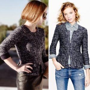 J. Crew | Boucle Peplum Tweed Blazer